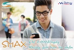 Đăng ký gói Smax của Viettel nhắn tin không giới hạn