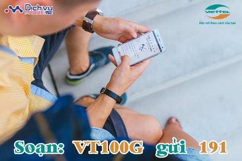 Đăng ký gói VT100G của Viettel