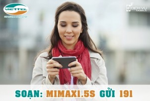 Gói MiMax1.5S Viettel – tự động mua thêm dung lượng, cộng dồn 1GB