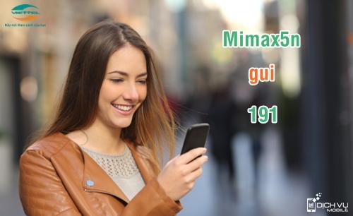 Cú pháp đăng ký gói Mimax5n mạng Viettel.