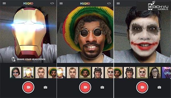 """Link tải ứng dụng selfie cực """"bá đạo"""" MSQRD và cách dùng"""