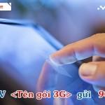 Sử dụng các gói 3G Mobifone 1 năm nhận ưu đãi 100% data