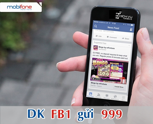 Ưu đãi đăng ký gói FB1 Mobifone tặng thêm 100MB 3G