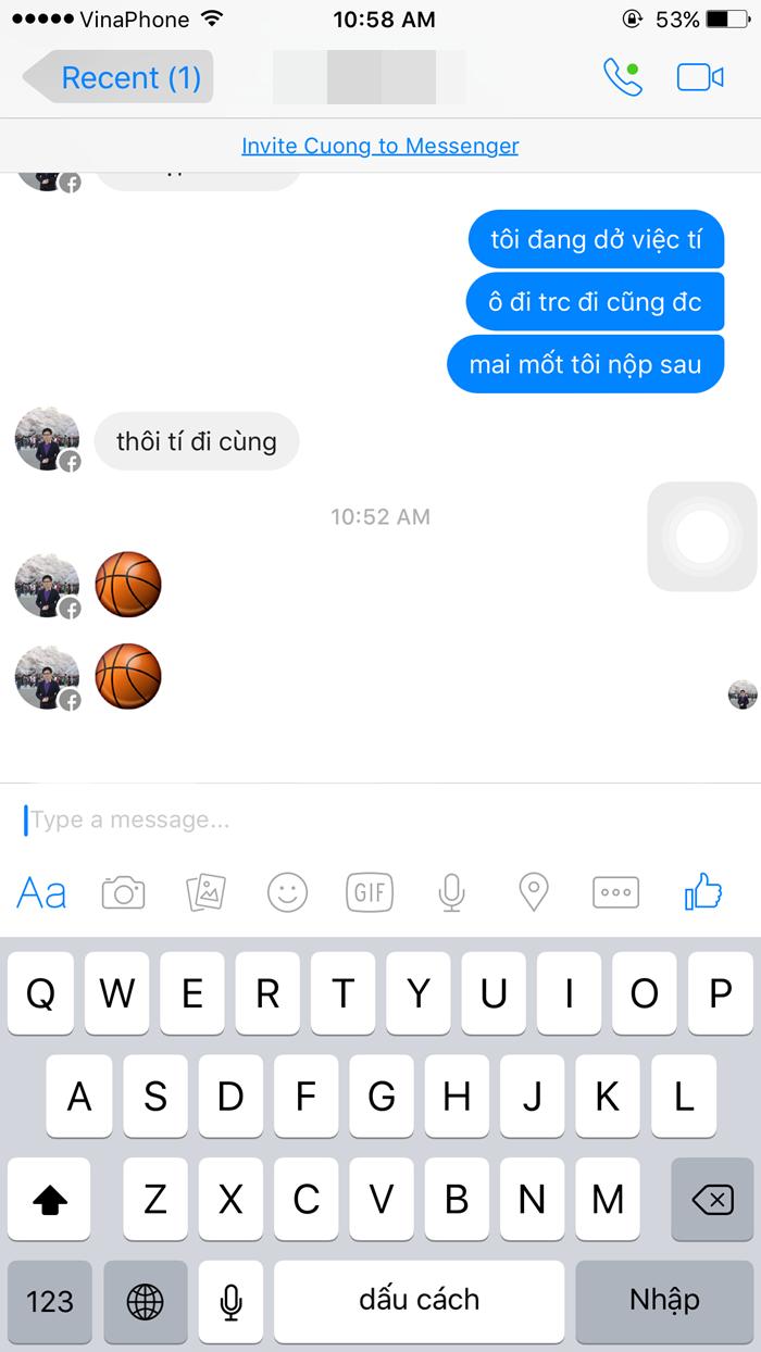 Cách chơi bóng rỗ trên Facebook Messenger