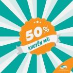 Khuyến mãi 50% thẻ nạp Viettel khi đăng ký gói T200 ngày 19/3/2016