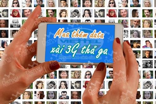 Các gói mua thêm dung lượng 3G Viettel tốc độ cao