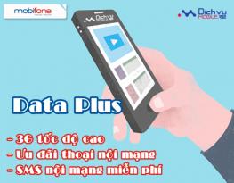 Đăng ký các gói Data Plus của Mobifone ưu đãi 3 trong 1