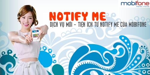 Đăng ký dịch vụ notify me của Mobifone