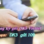 Đăng ký gói DK3 của Viettel chỉ 3.500đ với 20 phút thoại