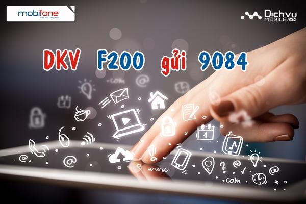 Đăng ký gói Fast Connect F200 của Mobifone
