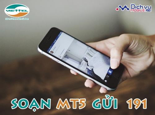 Đăng ký gói MT5 của Viettel sử dụng 3G 1 ngày