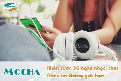 Đăng ký Mocha ưu đãi nhắn tin, nghe nhạc miễn phí