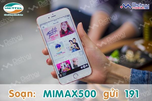 Gói cước MiMax500 Viettel