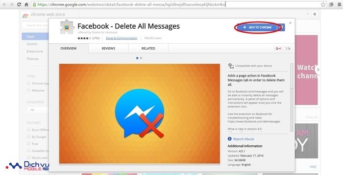 Hướng dẫn xóa hàng loạt tin nhắn trên Facebook chỉ trong 2 giây