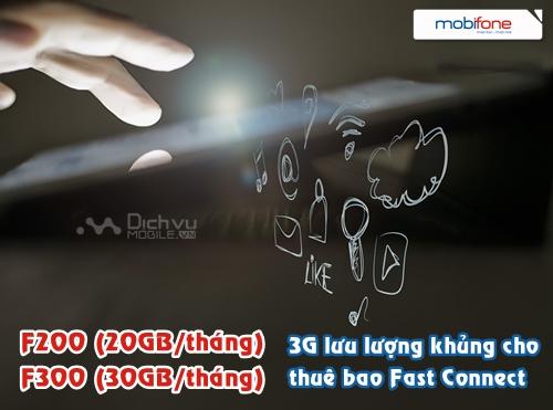 Mobifone triển khai 2 gói 3G Fast Connect mới với data khủng