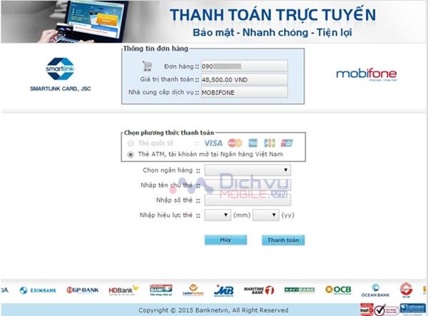 Ưu đãi 3% cho khách hàng khi thanh toán hoặc nạp tiền trực tuyến Mobifone