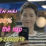 Vietnamobile khuyến mãi 100% thẻ nạp ngày 26 – 27/3/2016