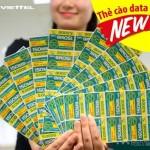 Nạp data không cần đăng ký với thẻ cào Data của Viettel