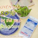 Viettel khuyến mãi 50% giá trị thẻ nạp ngày 28/3/2016
