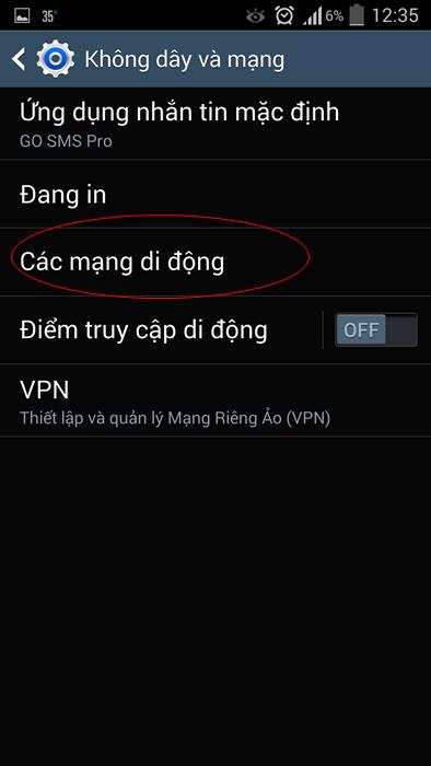 Cách tắt, bật 3G trên Android, Samsung, HTC, LG