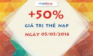 Khuyến mãi nạp thẻ Mobifone ngày 5/5/2016