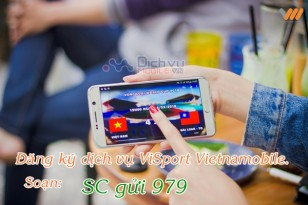 Các đăng ký dịch vụ Visport của Vietnamobile