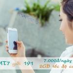 Đăng ký 3G gói MT7 Viettel mua thêm 1.2GB dùng 1 ngày