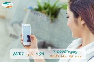 Đăng ký 3G theo ngày gói MT7 Viettel