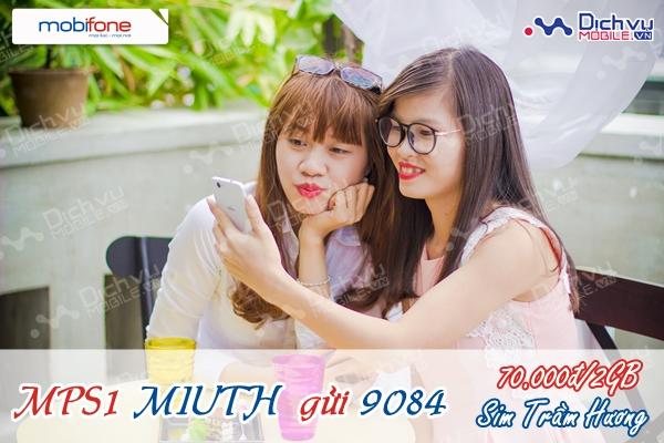 Đăng ký gói MIU Mobifone nhận 2GB với sim Trầm Hương