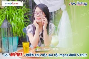 Khuyến mãi MPNT Mobifone miễn phí cuộc gọi dưới 5 phút