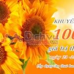 Khuyến mãi 100% thẻ nạp Vietnamobile ngày 23 và 24/4/2016