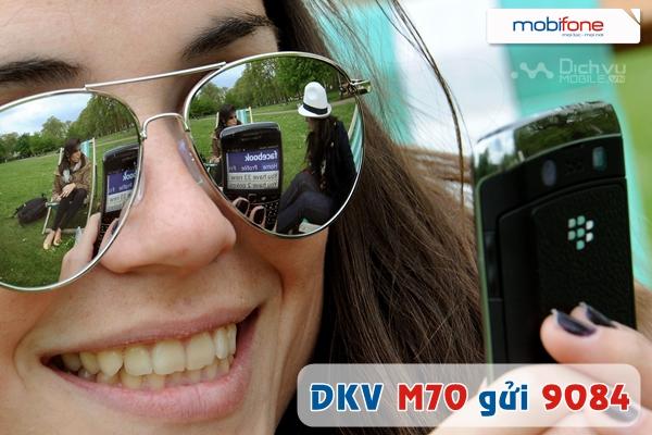 Đăng ký gói M70 của Mobifone