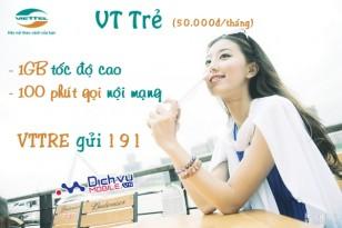 Đăng ký gói VT Trẻ của Viettel