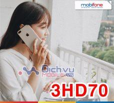Đăng ký gói 3HD70 Mobifone ưu đãi 4GB trong 3 tháng