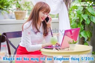 Khuyến mãi hòa mạng Vinaphone trả sau tháng 5/2016