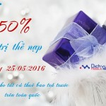 Khuyến mãi ngày vàng Vinaphone 25/5/2016 tặng 50% thẻ nạp