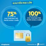Vinaphone khuyến mãi đến 100% thẻ nạp cho thuê bao bị khóa sim