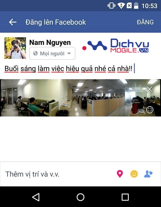 cach dang anh 360 do len Facebook 6