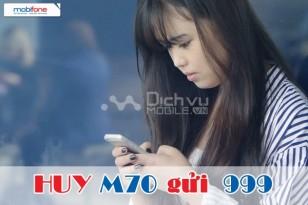 Cách hủy gói cước 3G M70 của Mobifone