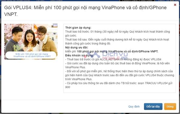 Cách nhận 100 phút nội mạng, 60 phút ngoại mạng của Vinaphone