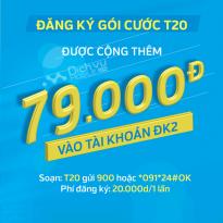 Đối 20.000đ lấy 79.000đ từ gói T20 Vinaphone
