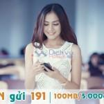 Đăng ký gói Mi5n của Viettel miễn phí 100MB dùng 1 ngày