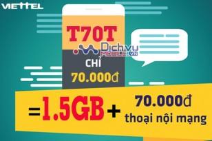 Gói T70T mạng Viettel