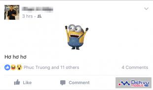 Hướng dẫn đăng status trên Facebook bằng sticker