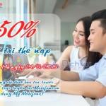 Mobifone khuyến mãi tặng 50% thẻ nạp trực tuyến giờ vàng ngày 24/6/2016