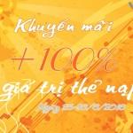 Vietnamobile khuyến mãi 100% thẻ nạp ngày 25 – 26/6/2016