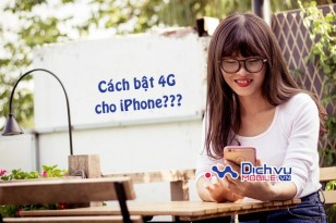 Bật 4G Mobifone cho iPhone