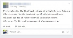Cách viết chữ hiệu ứng độc đáo, ngộ nghĩnh lên status Facebook
