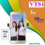 Đăng ký gói VTS1 Viettel nhận 3GB data và 50 phút thoại nội mạng