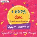 Khuyến mãi 100% data Fast Connect Mobifone ngày 27 – 28/07/2016
